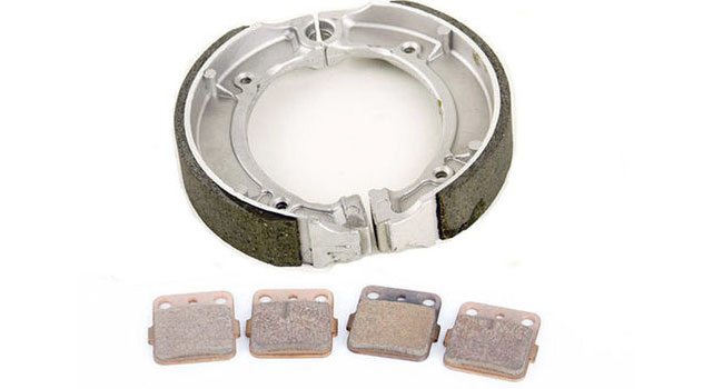 Brake pads and shoes are available in many different compounds.